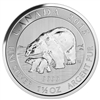 2015 1.5 oz $8 Canadian Silver Polar Bear and Cub Coin