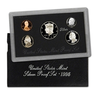 1995 S U.S. Mint Silver Proof Set in OGP with CoA