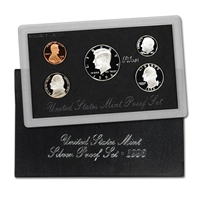 1996 S U.S. Mint Silver Proof Set in OGP with CoA