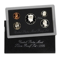 1998 - S U.S. Mint Silver Proof Set in OGP with CoA
