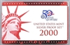 2000 U.S. Mint 10-coin Silver Proof Set - OGP box & COA