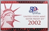 2002 U.S. Mint 10-coin Silver Proof Set - OGP box & COA