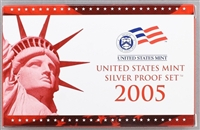 2005 U.S. Mint 11-coin Silver Proof Set - OGP box & COA