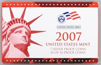 2007 U.S. Mint 14-coin Silver Proof Set - OGP box & COA