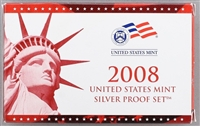2008 U.S. Mint 14-coin Silver Proof Set - OGP box & COA