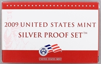 2009 U.S. Mint 18-coin Silver Proof Set - OGP box & COA