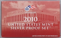 2010 U.S. Mint 14-coin Silver Proof Set - OGP box & COA