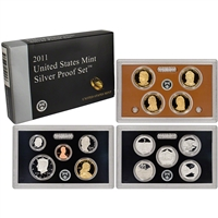 2011 U.S. Mint 14-coin Silver Proof Set - OGP box & COA