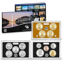 2013 U.S. Mint 14-coin Silver Proof Set - OGP box & COA