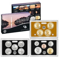 2014 U.S. Mint 14-coin Silver Proof Set - OGP box & COA