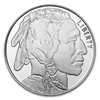 Buffalo Nickel Design One Ounce Silver Round
