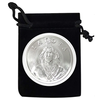 Lakota Nation Silver Coin in Air Tite and Black Velvet Bag 1 Troy Ounce .999 Fine Silver AOCS Approved