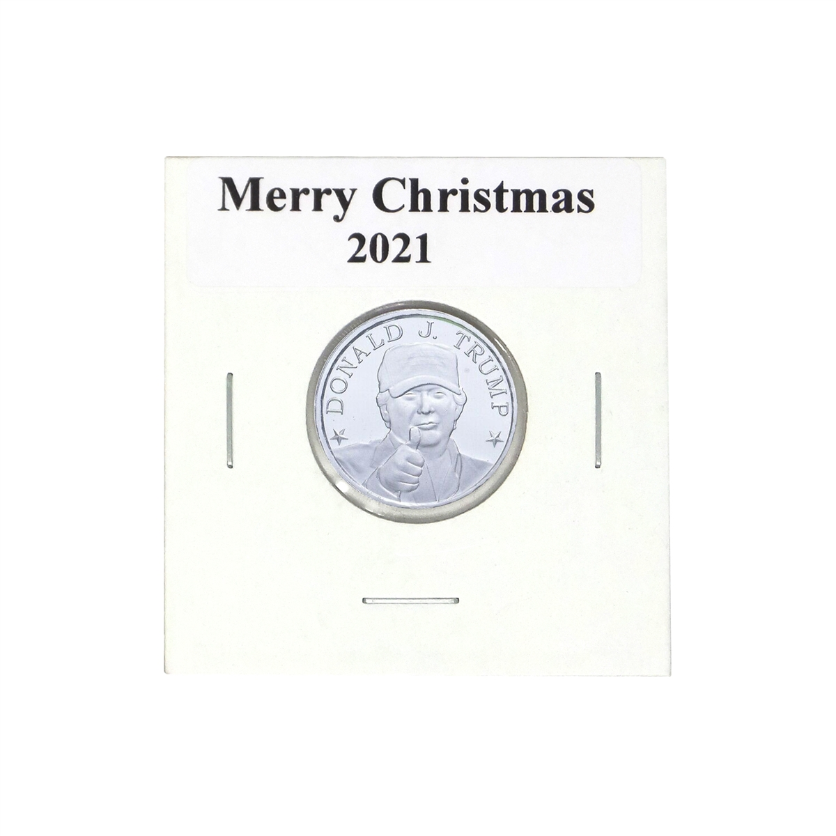Donald J Trump Memorabilia 1 10th Oz Merry Christmas