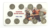 1942 - 1945 Wartime Silver Nickel Set