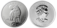 2011 Canadian Wolf One Ounce Silver Coin