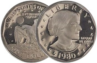 1980 - S Proof Susan B. Anthony Dollar - Single Coin
