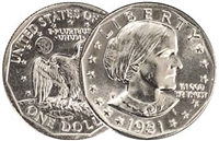 1981 - P Susan B. Anthony Dollar - Single Coin