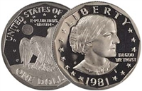 1981 - S Proof Susan B. Anthony Dollar - Single Coin