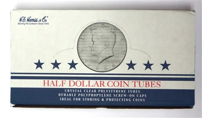 Box of 100 U.S. Half Dollar Coin Tubes