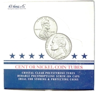 Box of 100 U.S. Nickel Coin Tubes