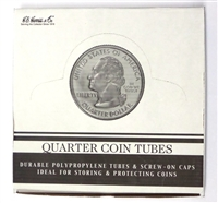 Box of 100 U.S. Quarter Coin Tubes