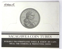 Box of 100 U.S. Small Dollar Coin Tubes