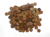 Lot of 500 Mixed Wheat Pennies Circulated Condition Unsearched