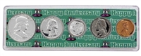 1957 - Anniversary Year Coin Set in Happy Anniversary Holder