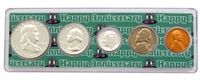 1958 - Anniversary Year Coin Set in Happy Anniversary Holder