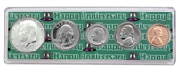 1969 - Anniversary Year Coin Set in Happy Anniversary Holder