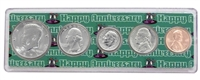 1971 - Anniversary Year Coin Set in Happy Anniversary Holder