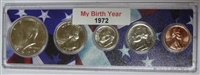 1972 Birth Year Coin Set in American Flag Holder