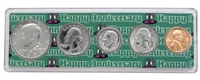 1972 - Anniversary Year Coin Set in Happy Anniversary Holder