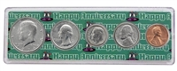 1974 - Anniversary Year Coin Set in Happy Anniversary Holder