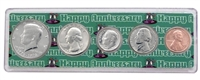 1975 - Anniversary Year Coin Set in Happy Anniversary Holder