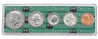 1981 - Anniversary Year Coin Set in Happy Anniversary Holder