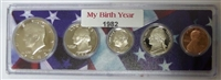 1982 Birth Year Coin Set in American Flag Holder