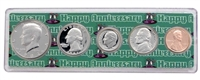 1982 - Anniversary Year Coin Set in Happy Anniversary Holder