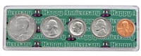 1985 - Anniversary Year Coin Set in Happy Anniversary Holder