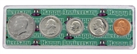 1987 - Anniversary Year Coin Set in Happy Anniversary Holder
