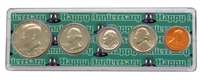 1988 - Anniversary Year Coin Set in Happy Anniversary Holder