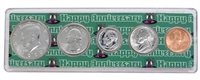 1990 - Anniversary Year Coin Set in Happy Anniversary Holder