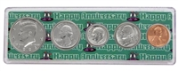 1991 - Anniversary Year Coin Set in Happy Anniversary Holder