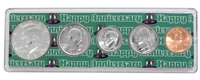 1992 - Anniversary Year Coin Set in Happy Anniversary Holder