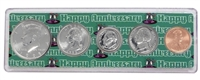 1995 - Anniversary Year Coin Set in Happy Anniversary Holder