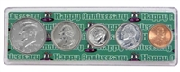 1996 - Anniversary Year Coin Set in Happy Anniversary Holder