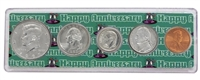 1997 - Anniversary Year Coin Set in Happy Anniversary Holder