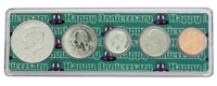 2000 - Anniversary Year Coin Set in Happy Anniversary Holder