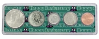 2002 - Anniversary Year Coin Set in Happy Anniversary Holder
