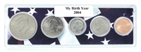 2004 Birth Year Coin Set in American Flag Holder